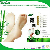 Direct factory Natural Chinese Herbal and Bamboo Vinegar detox foot patch