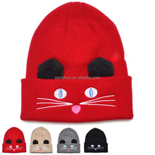 Children Knitted Caps Cat Cute Baby Beanie Hats