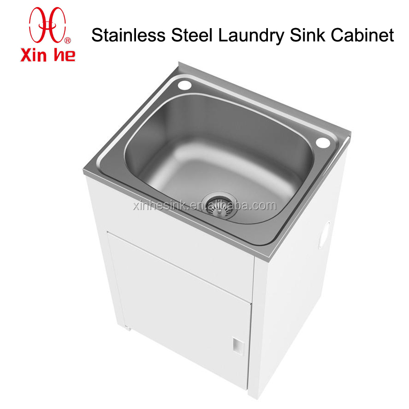 304 Stainless Steel Laundry Sink Cabinet - Buy Stainless Steel Laundry ...