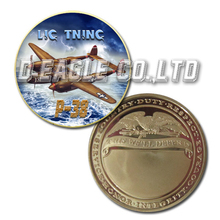 United States Military P-38 Color Printed Gold Souvenir/ Custom Challenge Coin/ Custom Coin
