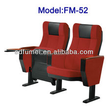 Foshan modern fabric lecture chair with writing desk