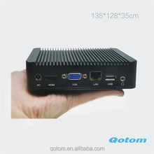 Hot Start booking Qotom-Q190 Mini PC with Baytrail J1900 quad Core 1.86Ghz CPU support wifi and bluetooth htpc server
