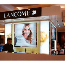 Custom lancome acrylic cosmetic point of sale display,acrylic cosmetic display stand