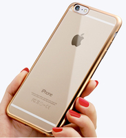 Luxury phone Case for iPhone 6 6s Plus Electroplating Soft Tpu Case