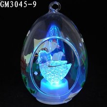 Hand painted easter craft with changing color led light