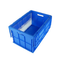 blue colour Storage Boxes Plastic folding boxes with lids for logistics industrial use