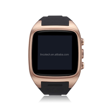 New Smart Watch Phone 2015 3D Cambered Sapphire Lens Dual-Core CPU Ultra-clear Aluminum Body