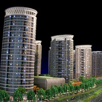 ABS and acrylic material miniature scale building model for property developer