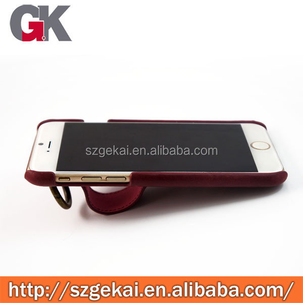 new belt design genuine leather case for iphone 6
