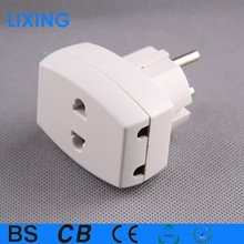 European 2 round pin travel plug adapter with copper feet