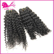 unprocessed Malaysian Jerry Curl Hair weft/extension 100% huamn hair