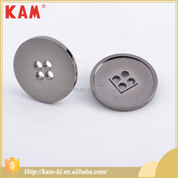 Custom zinc alloy metal silver round-shaped snap button for coat