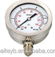 "63mm 0-25bar 1/4""NPT bottom mount hydraulic oil high quality wika pressure gauges"