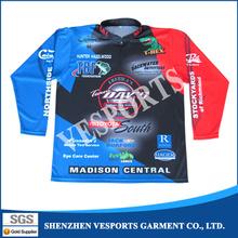 Wholesale dye sublimation quick dry fishing wear,waterproof fishing clothing custom fishing jersey