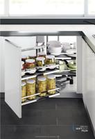 European antislip rubber pad modular magic corner kitchen cabinet