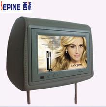 advertising display 7inch car pillow tft lcd monitor with USB and SD card
