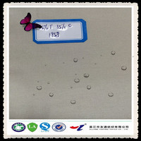 twill t/c 65/35 microfiber breathable waterproof pu coated polyester fabric for workwear