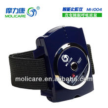 2015 factory wholesale black snore stop wristband anti snore with logic control IC