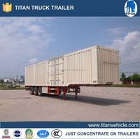 China double axles steel sheet van trailers / cargo van semitrailer