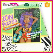 Hot Sale fuzzy velvet art poster , fuzzy velvet coloring
