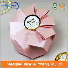 Customize Fancy Wedding Favour Popular Paper Folding Gift/Candy Boxes Wholesale