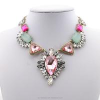 2014 Fashion Fancy jewelry Handmade ruby stone necklace designs for women