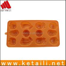 Fancy fruit shape silicone ice cube tray , personalized ice cube tray