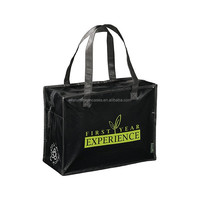 black promotion PP woven bag/ recycle shopping bag/PP woven bag fashion design