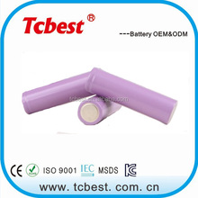 Customized 3100mah rechargeable Brillipower 40A li ion 3.7v 18650 battery