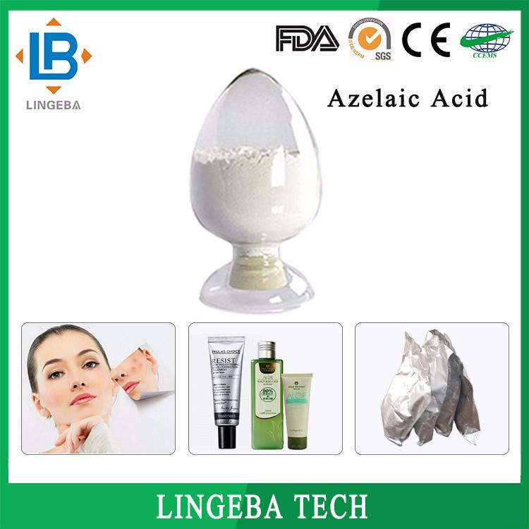 Usine De Haute Qualité Blanchiment De La Peau 99% 123-99-9 Poudre D'acide Azélaïque, Azélaïque Acide