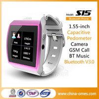 Pedometer Touch Screen Feature Bluetooth Watch Cell Phone