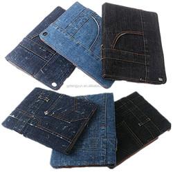 Wholesale Unbreakable jean flip case for ipad mini