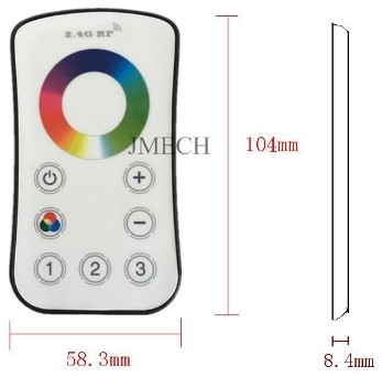 Multi zone Touch Remote 12V-24V zigbee rgb led controller led dimmer