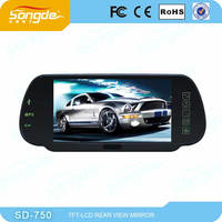 7inch Car Rearview Mirror Monitor with MP5 USB SD