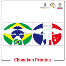 2014 the world cup series football face stickers