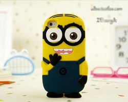 ot sell popular products 3D Despicable Me silicone mobile phone cover for iphone 4/4s/5/5s/6/6s sumsung CO-SIL-405