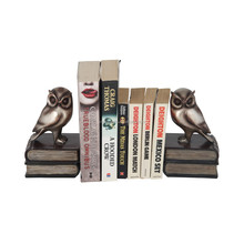 Polyresin owl antique bookend