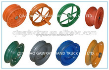 Buy direct from china wholesale various of colors kinds of wheelbarrow wheel rim