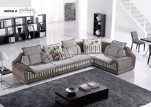 New classic full sofa/contemporary furniture grey sectional seating sofa set