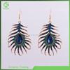Fashion blue peacock drop earring, beautiful lady dangler earrings