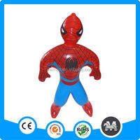 Hot sale inflatable spiderman toys for kids, inflatable cartoon spiderman toys