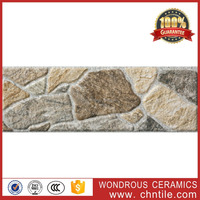 China tiles supplier new design 100x300mm 3d inkjet printing ceramic stone design outdoor decorative tiles for exterior walls