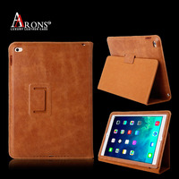 High qualtiy book leather case top grain leather case for ipad air 2