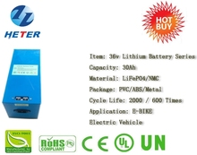 Lead-acid Replacement; Electric Vehicle; Scooter; Moped; Bike; Lifepo4 / Li-ion Battery Pack 36v30Ah