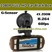 new design 1080p full hd car video recorder with g-sensor, 2.7 inch lcd, h.264