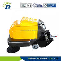 hand push street sweeper, electric road sweeper, CE street sweeper