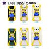 Wholesale custom cheap HOT cartoon silicone universal mobile phone cover bumper 3D phone case