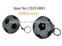 funny reflective football keychain,reflective toys, reflect light at night! for 2014 world cup