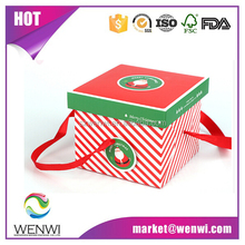Hot sales fashion decorative christmas gift packing boxes with lids