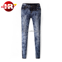 Exported jeans of classic style with factory price 100% cotton and stone wash